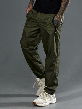 Спортивні штани з плащовки з підкладкою-сіткою, Tailer Хакі (1015)