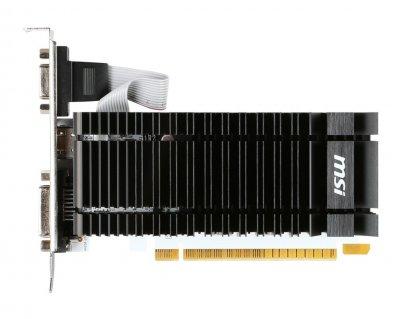 Видеокарта MSI, GeForce GT730, 2Gb GDDR3, 64-bit, VGA/DVI/HDMI, 902/1600MHz, Silent (N730K-2GD3H/LP)