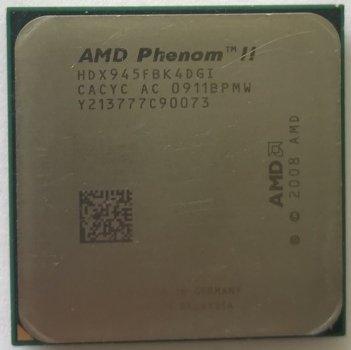Процессор AMD Phenom II X4 945 3.0GHz sAM2+/AM3 125W б/у