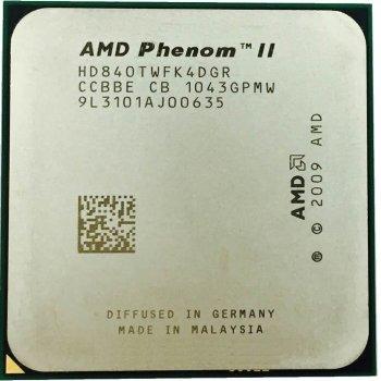 Процессор AMD Phenom II X4 840 3.2GHz AM2+/AM3 95W б/у