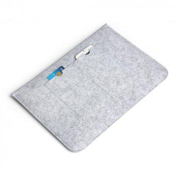 Войлочный чехол-конверт для MacBook Air и Pro 13`3 чехол из войлока на Макбук Аир и Про серый