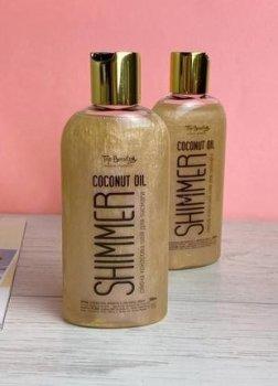 Кокосова олійка для засмаги з шиммерами Top Beauty Pearl Coconut Oil Shimmer 200 мл