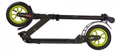 Самокат Maraton Power с надувными колесами черно-салатовый