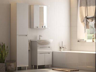 Зеркало AQUARIUS Simpli 60 cм со шкафчиком и подсветкой