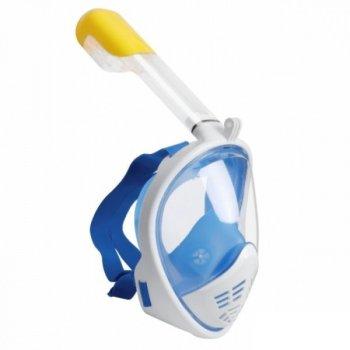 Маска для снорклинга Free Breath M2068G с трубкой голубая