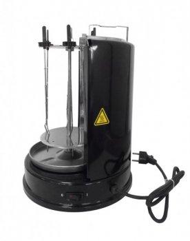 Шашлычница Grunhelm GSE20 черная электрическая 6 шампуров 2000Вт