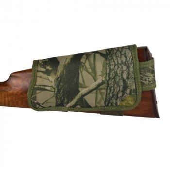 Патронташ на Приклад з Поліестеру Bronzedog Правша 6 патронів калібр 12/16 Зелений (8100)