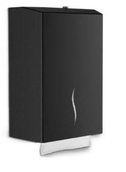 Металлический диспенсер для листовой туалетной бумаги NEW (черный) Dayco