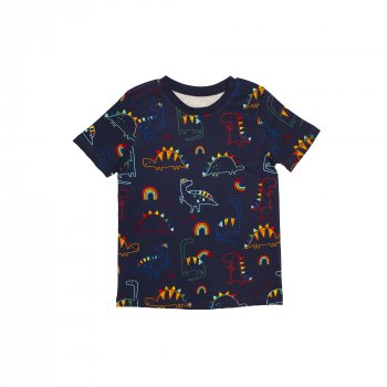 Пижама для мальчика (1 шт) George тёмно-синего цвета футболка и штаны с динозаврами 9-10 лет 140см) 1821