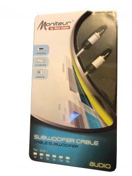 Сабвуферный кабель RCA-RCA Real Cable SUB-1 1m