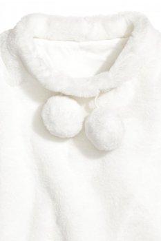 Пончо зі штучного хутра H&M Біле (0584575001)