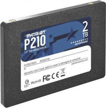 "Накопичувач SSD Patriot 2 ТВ 2.5"" SATAIII 3D QLC (P210S2TB25)"