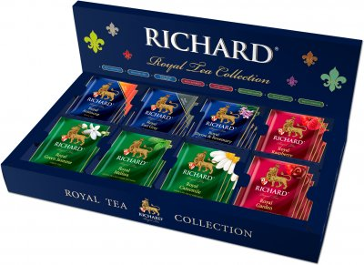 Подарочный набор диспенсер Richard Royal Tea Collection чайное ассорти в пакетиках 40 пакетиков (4823063706650)