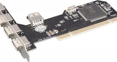 Плата расширения Frime PCI to USB2.0 (4+1 порты) NEC720201 (ECF-PCItoUSB002)
