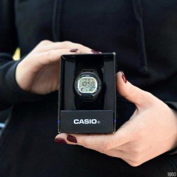 Женские электронные часы Casio Black наручные спортивные на полимеровом ремешке + коробка (1006-1860)