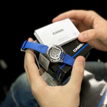 Женские электронные часы Casio Blue наручные спортивные на полимеровом ремешке + коробка (1006-1828)