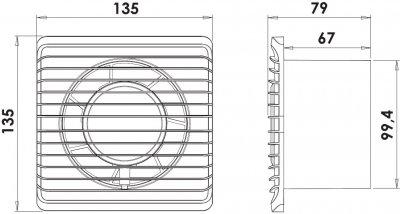 Вытяжной вентилятор AIRROXY Planet Energy 100 PS с шнуровым включателем