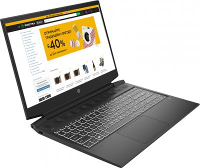 Ноутбук HP Pavilion Gaming 16-a0014ua (423Q8EA) Dark Grey