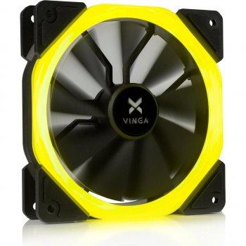 Кулер для корпуса Vinga LED fan-01 yellow