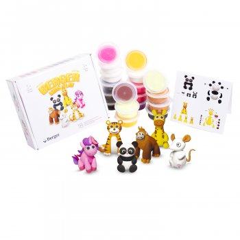 Набор пластилина Berger Монстрики Животные 18 баночек Разноцветный 1160 г (Monsters Beasts 02-18) (8596165040255)