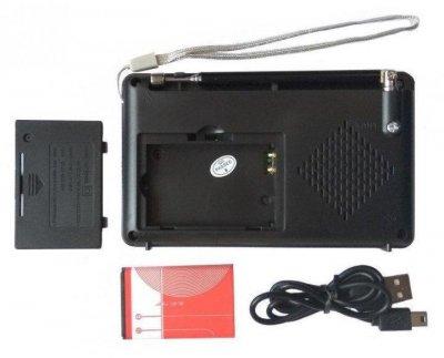 Акумуляторний портативний радіоприймач Golon RX-2277 FM AM радіо колонка з ліхтариком