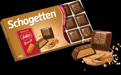 Шоколад молочный Schogetten с бисквитным печеньем и кремом 100г