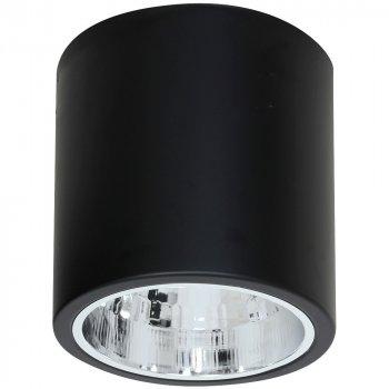 Точковий світильник спот Luminex Downlight Round Чорний (7237)
