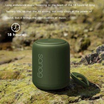 Акустическая система Sanag X6 Plus портативная блютуз колонка водонепроницаемая Green (4946812036)