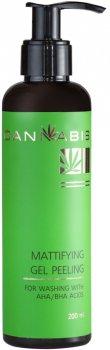 Матирующий гель-пилинг для умывания Cannabis с AHA/BHA кислотами и экстрактом каннабиса 200 мл (4820218410103)