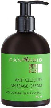 Антицелюлітний моделювальний масажний крем Cannabis з екстрактом каєнського перцю й екстрактом канабісу 275 мл (4820218215463)