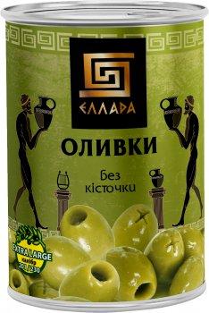 Оливки без косточки Ellada 420 г (5202152520022)