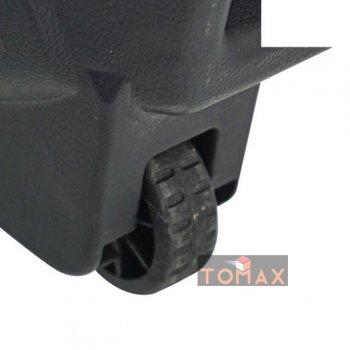 Активная акустическая система TUXAN Trolley Music, беспроводной микрофон, колонка-чемодан, комбик, микшер, вход гитары, Мощность 100 Ватт, Черная