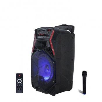Активна акумуляторна акустика TUXAN бездротовий мікрофон, Потужність 100 Ват Black