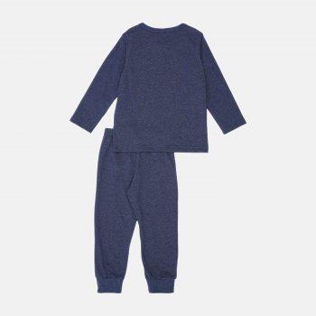Пижама (футболка с длинными рукавами + штаны) Smil Explore 104825-1 Синяя