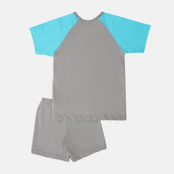 Пижама (футболка + шорты) Smil Explore 104829/104830 Серая