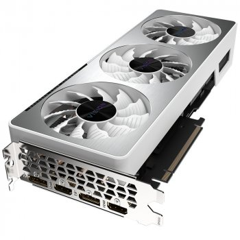 Видеокарта Gigabyte, GeForce RTX 3070, VISION OC, 8Gb GDDR6, 256-bit, 2xHDMI/2xDP, 1815/14000 MHz, 8-pin + 6-pin (GV-N3070VISION OC-8GD)