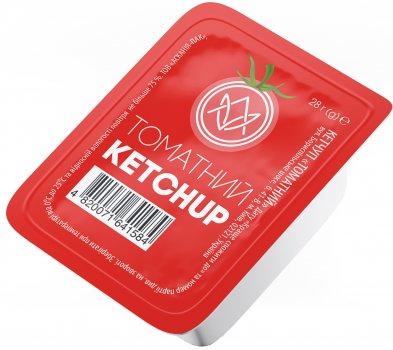 Упаковка кетчупа в дип-паках Асканія Томатный 28 г х 48 шт (4820071641942)