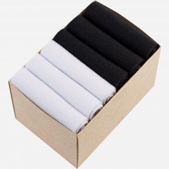 Набор коротких носков Lapas 6P-220-150 (6 пар) Черный/Белый W