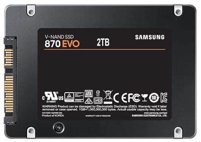 """Накопичувач SSD 2.5"""" 2TB 870 EVO Samsung (MZ-77E2T0BW)"""