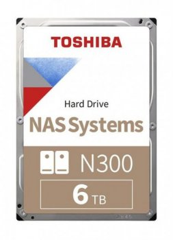 "Жорсткий диск 3.5"" TOSHIBA N300 6TB SATA/256MB (HDWG160UZSVA)"