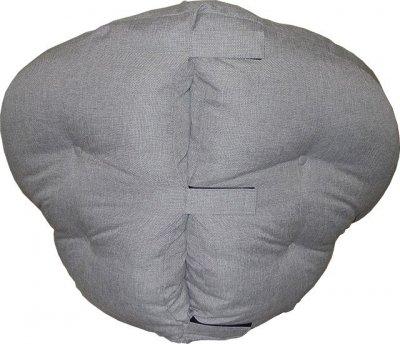 Крісло-подушка Олімп Санрайз 100х90х78 сіре