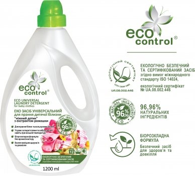 Засіб універсальний для прання дитячої білизни ECO Control Ніжний дотик з екстрактом ромашки 1.2 л (4823080005132)