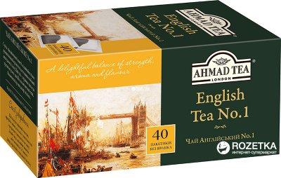 Упаковка чая пакетированного Ahmad Tea Английский №1 10 шт по 40 пакетиков (0054881206310)