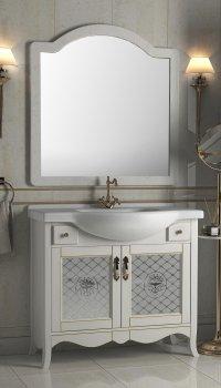 Тумба Ваші Меблі Декор 95 см с умывальником и зеркалом Белая