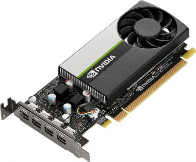 PNY PCI-Ex NVIDIA T1000 4GB GDDR6 (128bit) (4 x miniDisplayPort) (VCNRTXA4000-SB)
