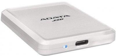 "ADATA SC685 250GB 2.5"" USB 3.2 Type-C 3D NAND TLC White (ASC685-250GU32G2-CWH) External (JN63ASC685-250GU32G2-CWH)"