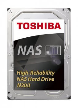 Накопитель HDD SATA 6.0TB Toshiba N300 NAS 7200rpm 128MB (HDWN160UZSVA)