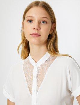 Блузка Koton 0KAK68756PW-001 Off White