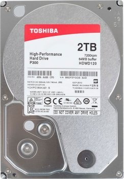 Жесткий диск 3.5 Toshiba 2TB 7200rpm 64MB HDWD120UZSVA 3.5 SATA III