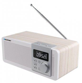 Радиоприемник Blaupunkt PP14BT Бежевый с дисплеем и пультом ДУ + FM-радио (60 станций) USB / microSD / AUX